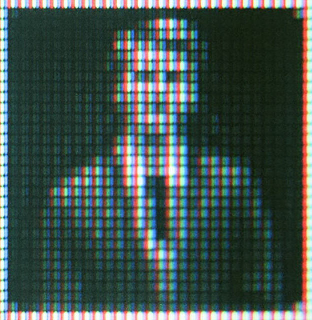 Abstract image of pixelated male (man) portrait