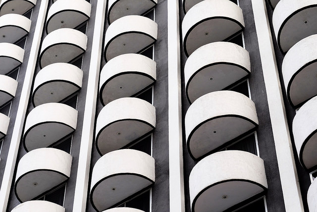 photograph of balconies (pattern and repetition) by Lars Plougmann https://flic.kr/p/r5U5Vx
