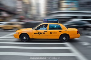"pan motion photo of ""NYC Taxi"" by Damianos Chronakis https://flic.kr/p/ddnQnf"