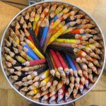 photograph of a bucket of colored pencils (pattern and repetition) by https://flic.kr/p/2PWmV Procsilas Moscas