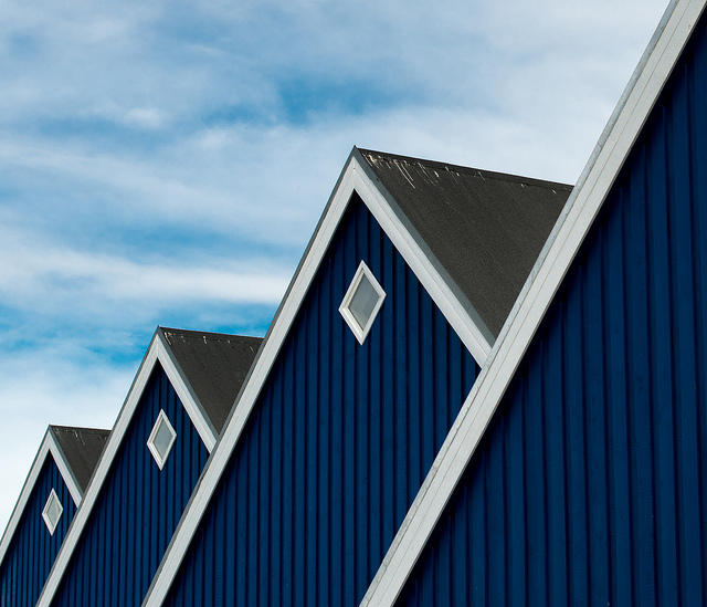 photograph of roofs in greenland (repetition and pattern) by Thomas Leth-Olsen https://flic.kr/p/eTrmfj