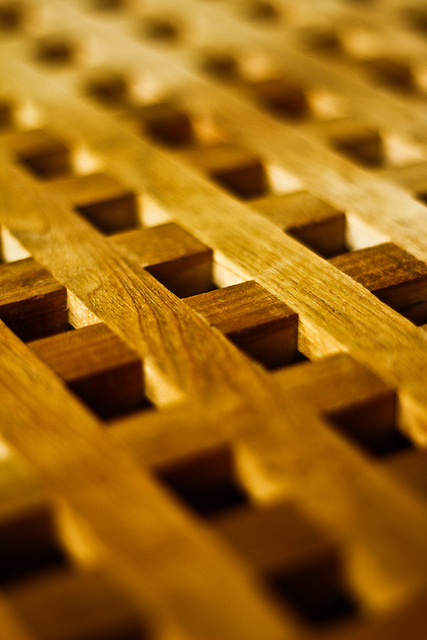 photograph of a Wooden Grate (repetition pattern) by Natesh Ramasamy https://flic.kr/p/bUc3G1